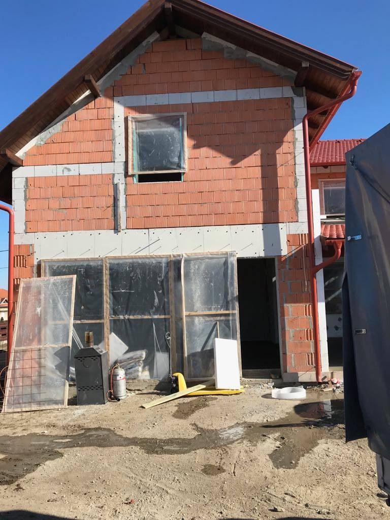 Családi ház terasz, Estrich betonozás, Szombathely