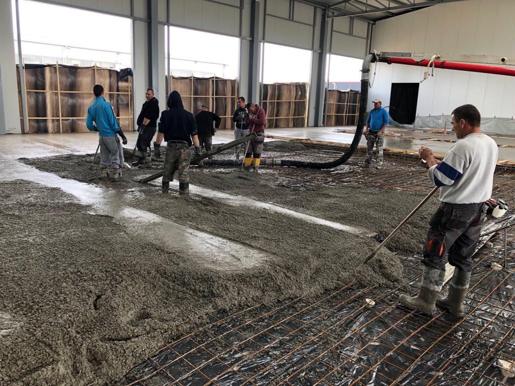 Bosch kamionszervíz, ipari padló készítés, Nagytarcsa